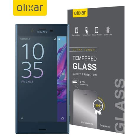 Tempered Glass Sony Ms olixar sony xperia xz tempered glass screen protector black