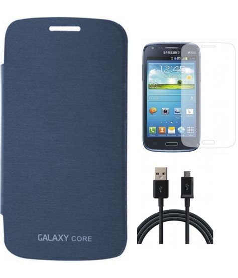 Flipcase Samsung 1 8262 Hello matrix flip cover for samsung 8262 pebble blue with screenguard and usb data cable buy