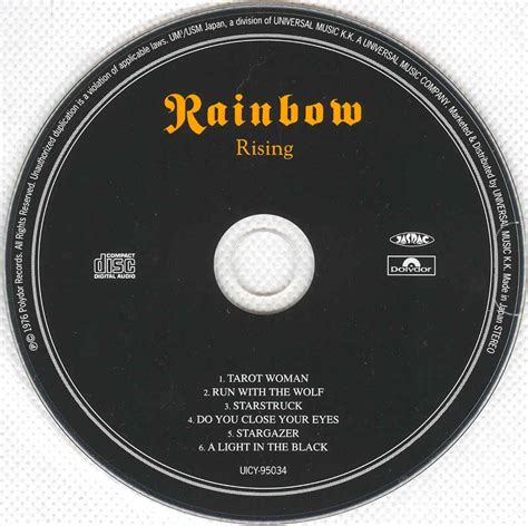 Page The Rainbow Cd tapio s ronnie dio pages rainbow cd discography october 1975 january 1977