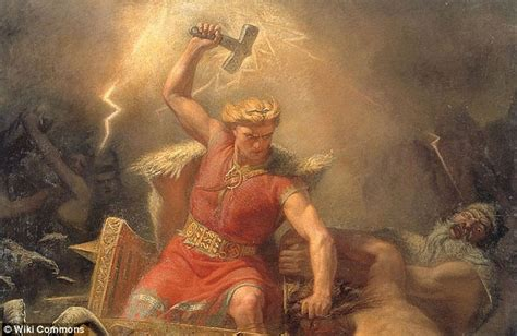 ancient god thor the hammer of thor unearthed in denmark daily mail online