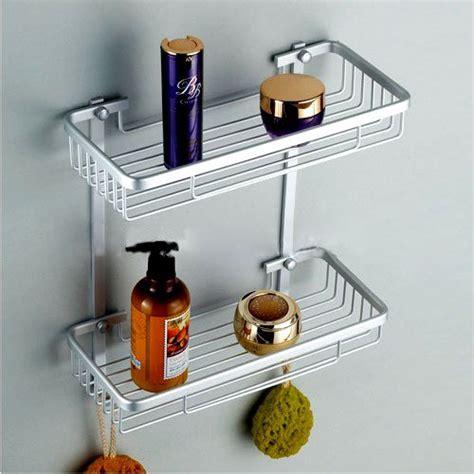 Buy Bathroom Shelves Buy 2 Tier New Bathroom Shelf Bath Shelves Aluminium Silvery White Wall Mounted Review Cmfineuse