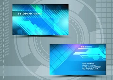 free business card template technology image collections
