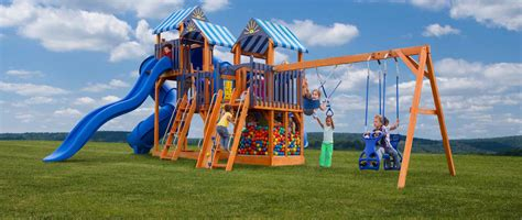 extreme swing sets handcrafted swing sets playsets pine creek structures