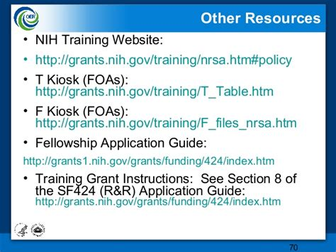 nih grant sections research training awards the oer powerpoint ppt