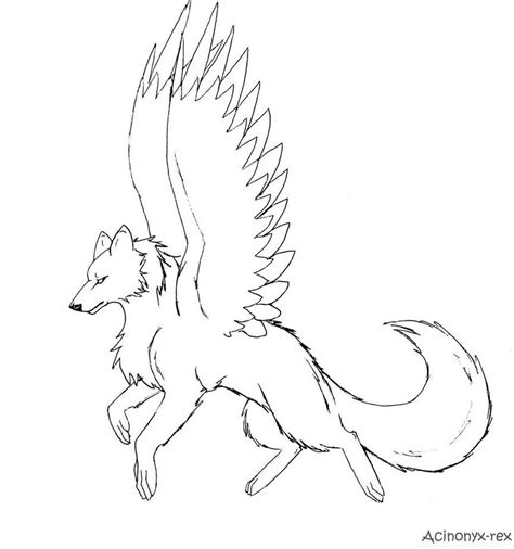 Anime Wolf Pack Coloring Pages   Kids Coloring
