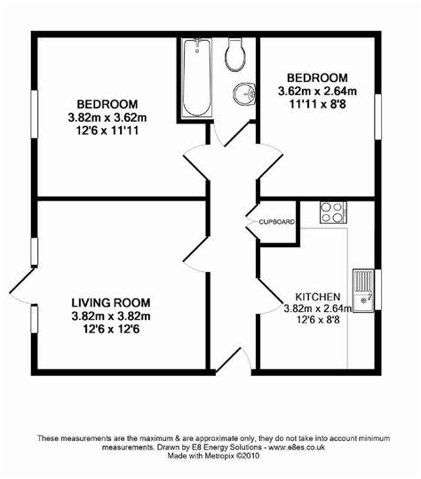 floor plan of 2 bedroom flat marina way abingdon ox14 ref 6288 abingdon