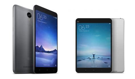 Tablet Xiaomi Redmi Note xiaomi redmi note 3 mi pad 2 mi air purifier 2 announced