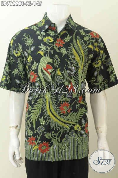 Kemeja Hem Murah Pakaian Batik Seragam Pria Kerja Keceee Atasan Keren baju hem batik istimewa kemeja batik modis halus lengan