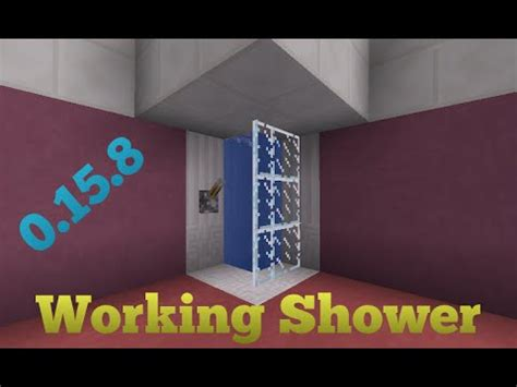 How To Make A Shower On Minecraft Pe by Minecraft Pocket Edition V0 15 8 How To Make Working
