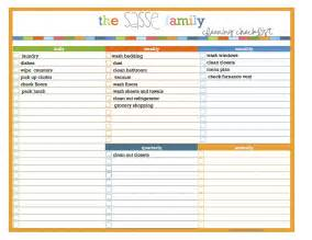 creative life designs my new cleaning schedule