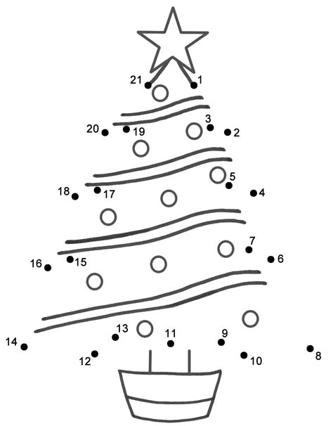 Christmas Tree - Connect the Dots, count by 1's (Christmas