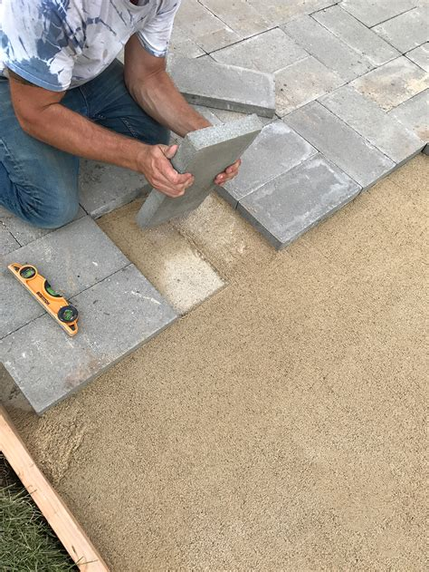 build paver patio how to install a custom paver patio room for tuesday