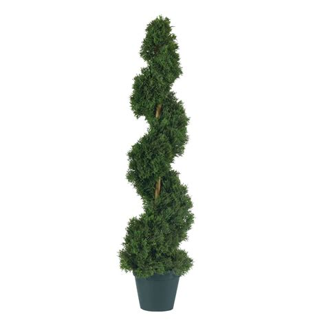 3 foot artificial cedar spiral topiary tree potted 5161