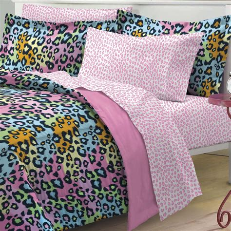 rainbow leopard comforter total fab rainbow leopard and zebra print comforter