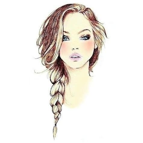 pretty hairstyles drawing beautiful drawing of a hair braid illustration hair