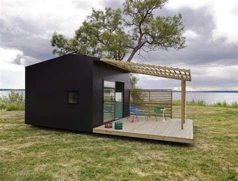 modern mini house makes a big impression a prefab in