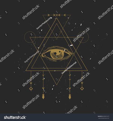 sacred geometry symbol all seeing eye stock vector allseeing eye symbol sacred geometry third stock vector 600901673