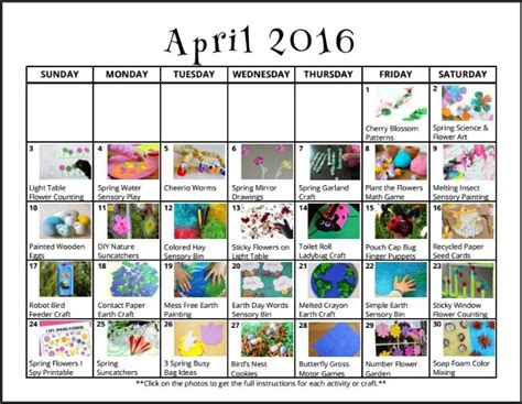 themed events for april april activities for kids free monthly play calendar