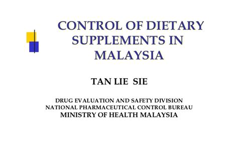 supplement 1 malaysia of dietary supplements in malaysia