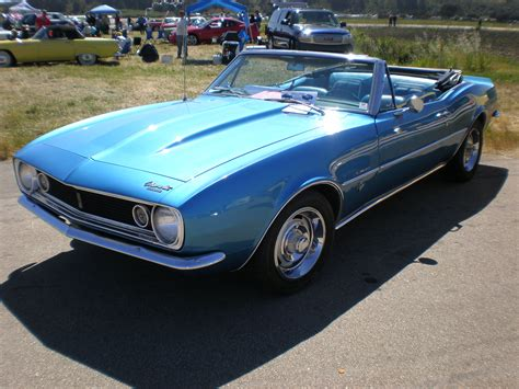 camaro 1967 convertible file 1967 blue chevrolet camaro convertible side jpg
