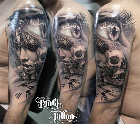multiple skull tattoo designs kostas baronis proki new skull more designs