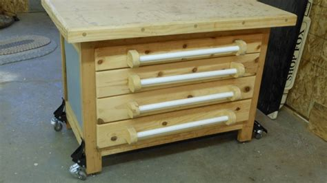 bench on casters workbench casters plans best house design workbench casters with lift mechanism