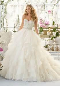 Wedding Dressers Wedding Dress With Crystal Bodice On Organza Style 2815