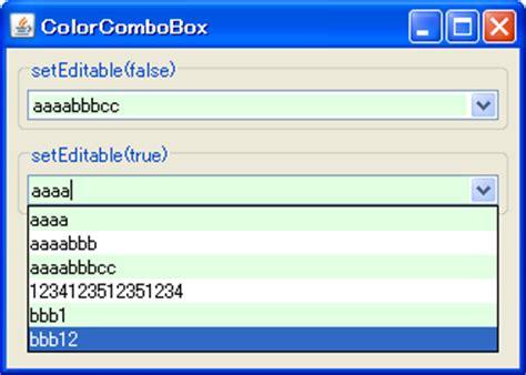 java swing color java swing tips color jcombobox