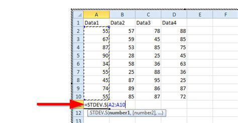 standard deviation template calculating for standard deviation in powerpoint 2010