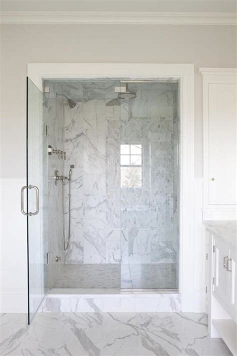 Marble Showers Bathroom Gray Glass Tile Shower Transitional Bathroom Cardea Building Co