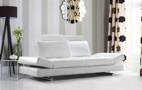 divani leather sofa divani casa hymn modern white leather sofa with