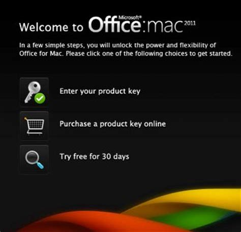 download office for mac 2011: full free trial for 30 days