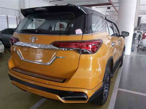 Murah Garnish Crrom Stopl Fortuner this toyota fortuner with nippon kit looks attractive