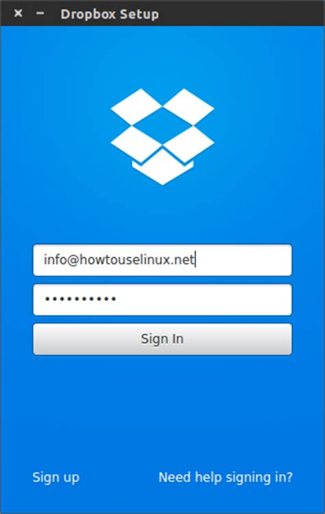 how to install and configure dropbox for linux how to