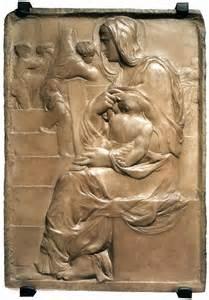 michelangelo madonna an der treppe historyczno sztucznie 47 michał anioł rzeźba