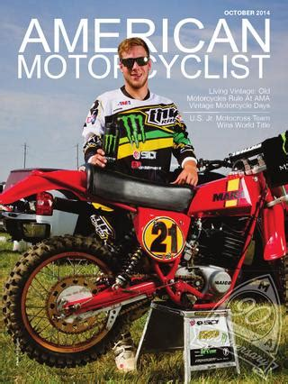 ama motocross membership motorcyclist 10 2014 dirt preview version by