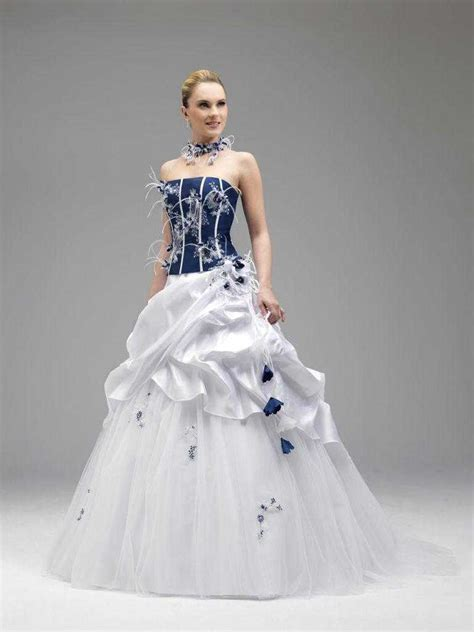 Brautkleider Blau by Blaue Und Wei 223 E Hochzeitskleider Hochzeitskleid