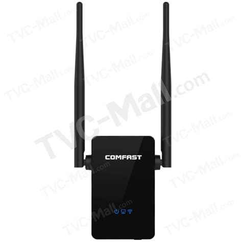 Comfast Wifi Range Extender Lifier 300mbps 10dbi Cf Wr302s Hitam comfast cf wr302s 300mbps wireless router wifi repeater extender with 2 antennas eu tvc