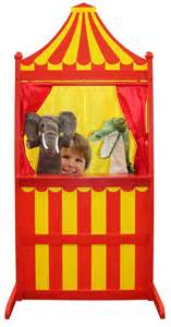 Wooden Childrens Table 3 In 1 Puppet Theatre Red Amp Yellow Wb101007 The Puppet