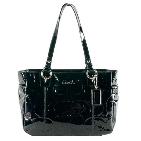Coach Gallery Patent Handbag by Coach Gallery Embossed Patent Leather East West Tote
