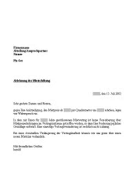 Musterbrief Ablehnung Einer Bewerbung Musterbrief Ablehnung Mieterh 246 Hung Vorlage Muster Zum Herunterladen