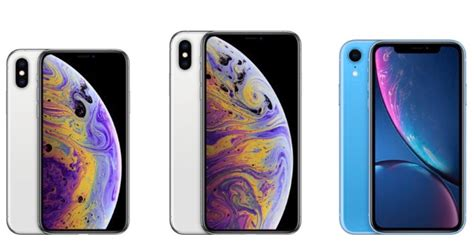 compare all three new iphones xs xs max xr the mac observer