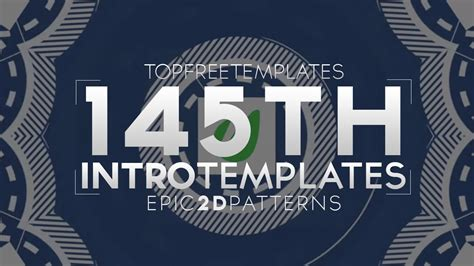 Free Intro Template Epic 2d Pattern 145 W Tutorial Youtube Top Free Templates