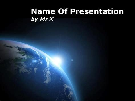 powerpoint templates free space earth in black space powerpoint template
