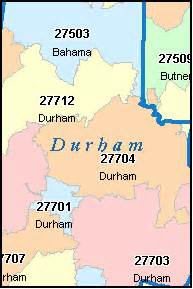 Durham Nc Zip Code Map durham county north carolina digital zip code map