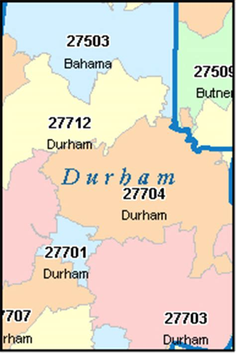 zip code map durham nc durham county north carolina digital zip code map