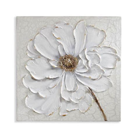 plaster wall decor plaster floral canvas flower 3d canvas with painted