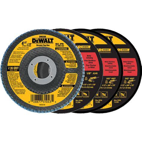 grinding wheel dresser lowes shop dewalt 4 pack abrasives at lowes