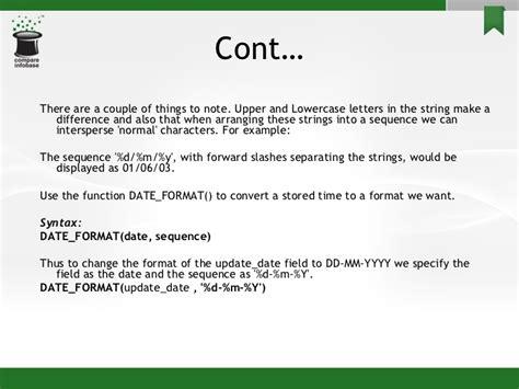 mysql date format with slashes mysql functions