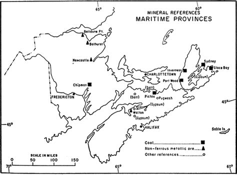 map of maritimes provinces canada mineral references in the maritime provinces 1967
